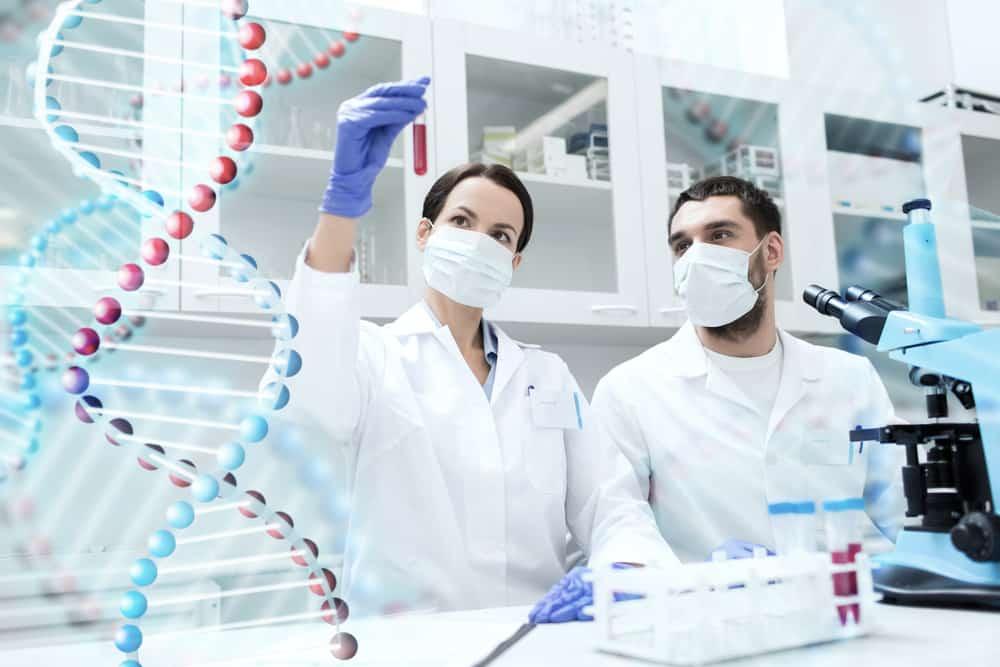 Billedet af læger som laver en dna test